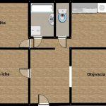 predaj, trojizbový byt, pôvodný stav, Handlová